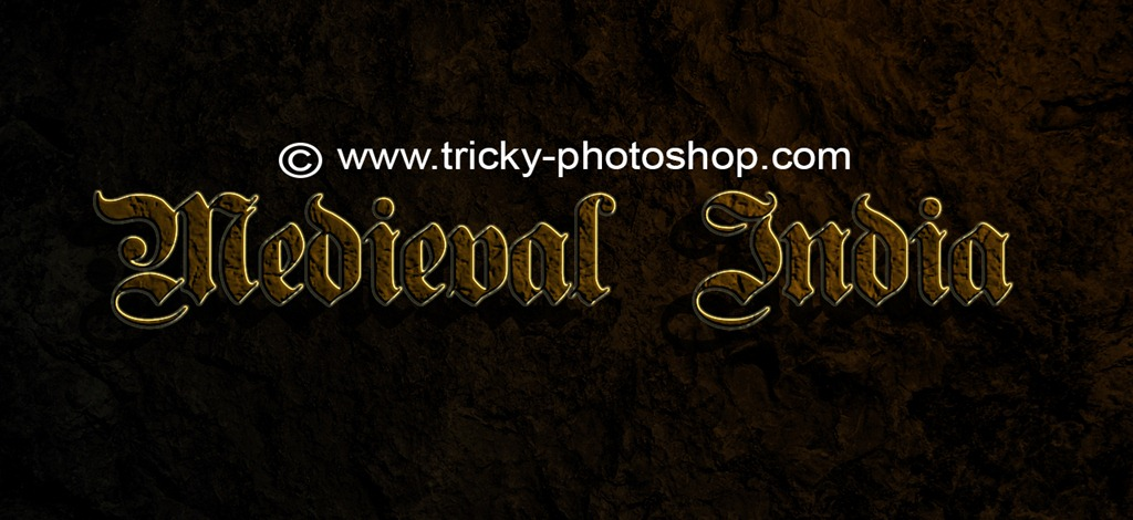 Create Medieval Age text in Photoshop CS6 | TrickyPhotoshop