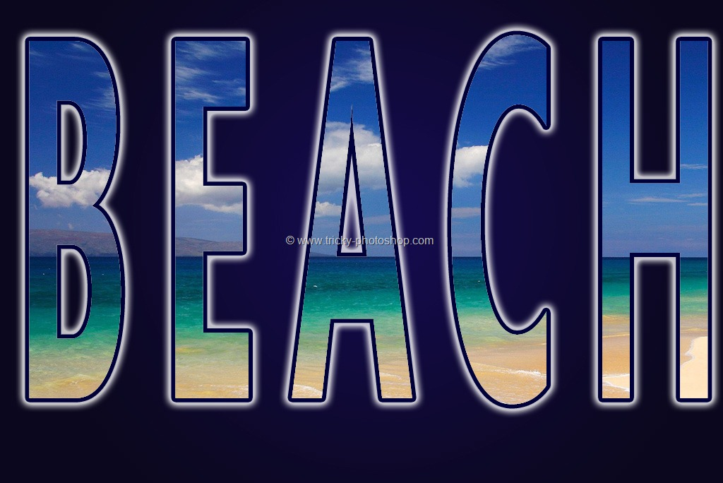 Place an Image Inside a Text using Photoshop CS6 | TrickyPhotoshop