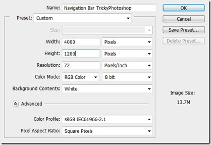 1 thumb15 Create a Navigation Bar Using Photoshop CS6 | TrickyPhotoshop web designing graphics