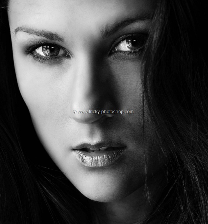 Create Dramatic Black and White Portrait using Photoshop ...