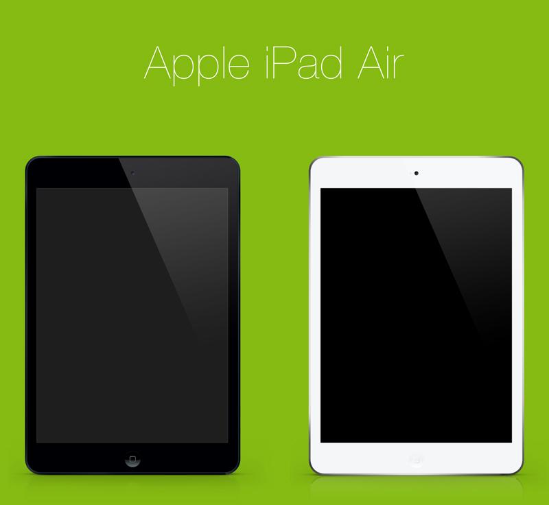 Free PSD: Apple iPad Air   TrickyPhotoshop