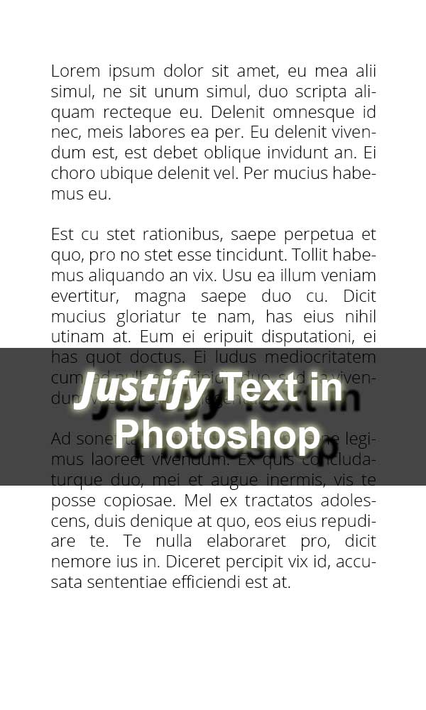 How to justify text in photoshop trickyphotoshop ccuart Image collections