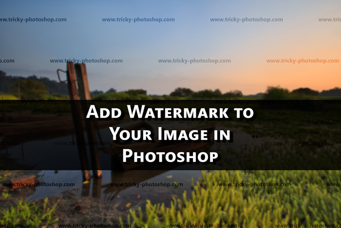 How to Add Watermark Pattern in Photoshop