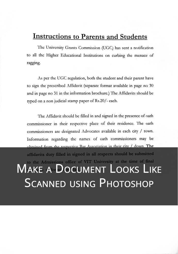 Make a Document Looks Like a Scanned Copy in Photoshop | TrickyPhotoshop