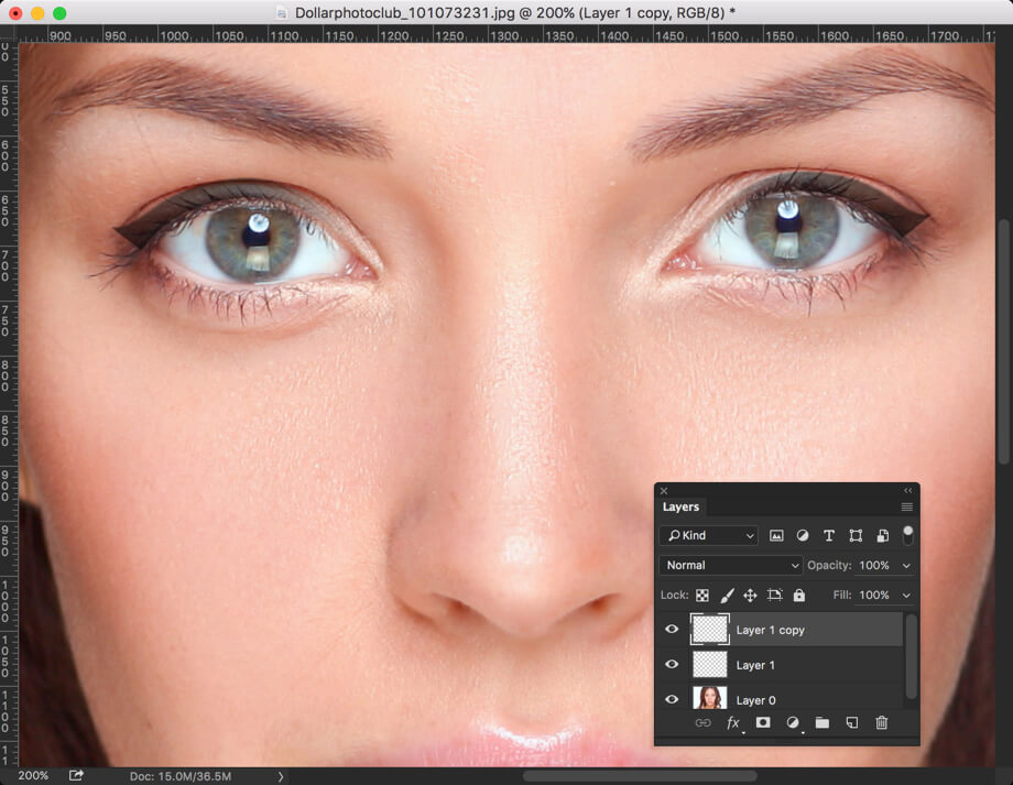 6 - Add Eyeliner in Photoshop