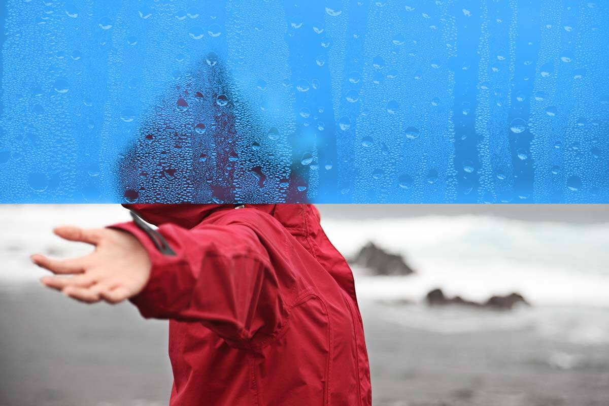 Before-and-After - Create Condensed Raindrops on Wet Glass in Photoshop