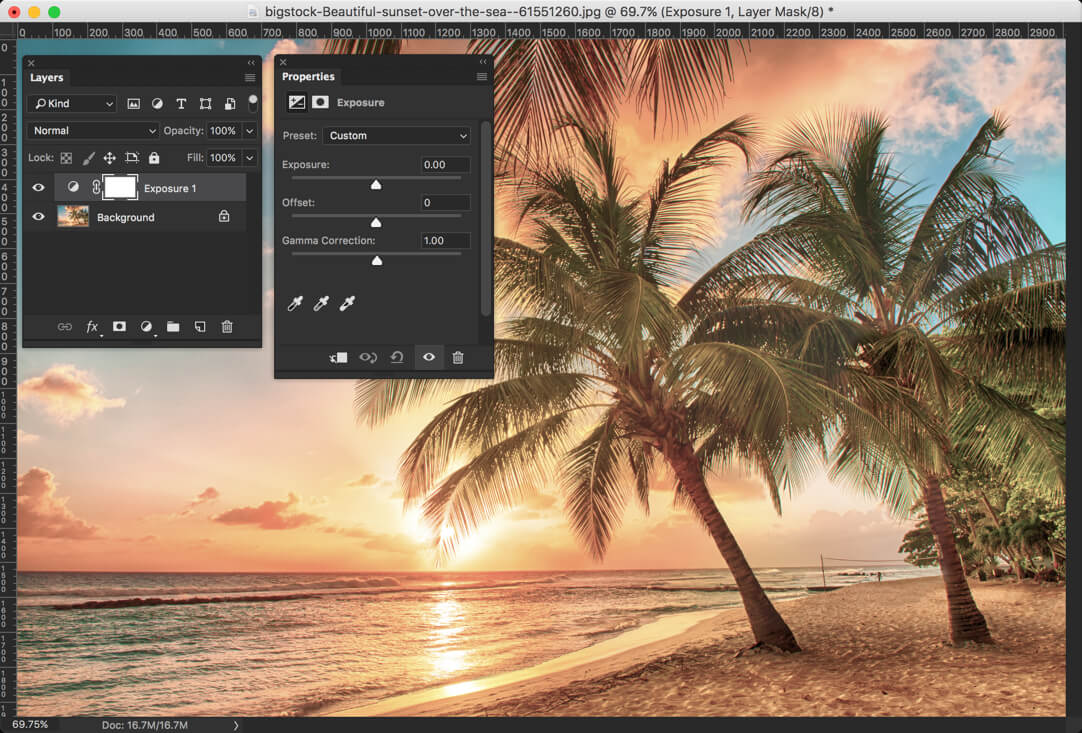 10 - Day 24 - Adjustment Layers in Photoshop - Solid Color, Gradient, Pattern, Brightness, Levels, Curves, and Exposure
