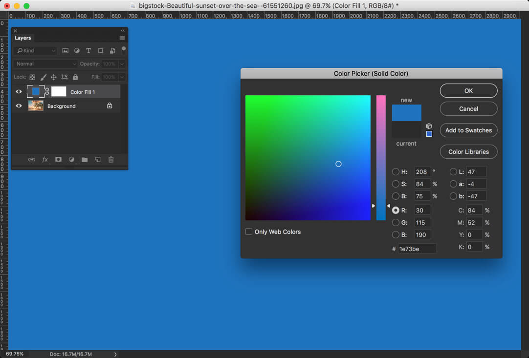2-2 - Day 24 - Adjustment Layers in Photoshop - Solid Color, Gradient, Pattern, Brightness, Levels, Curves, and Exposure