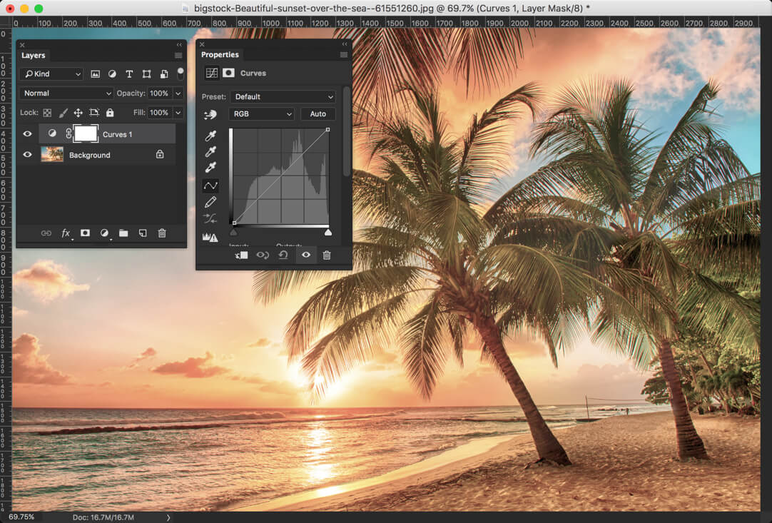 9 - Day 24 - Adjustment Layers in Photoshop - Solid Color, Gradient, Pattern, Brightness, Levels, Curves, and Exposure