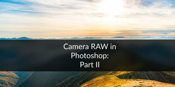 DAY 23 – THE CAMERA RAW FILTER IN PHOTOSHOP: PART 2