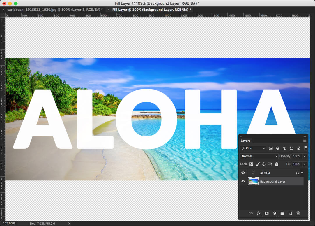 1 - Photoshop: Place an Image in Text
