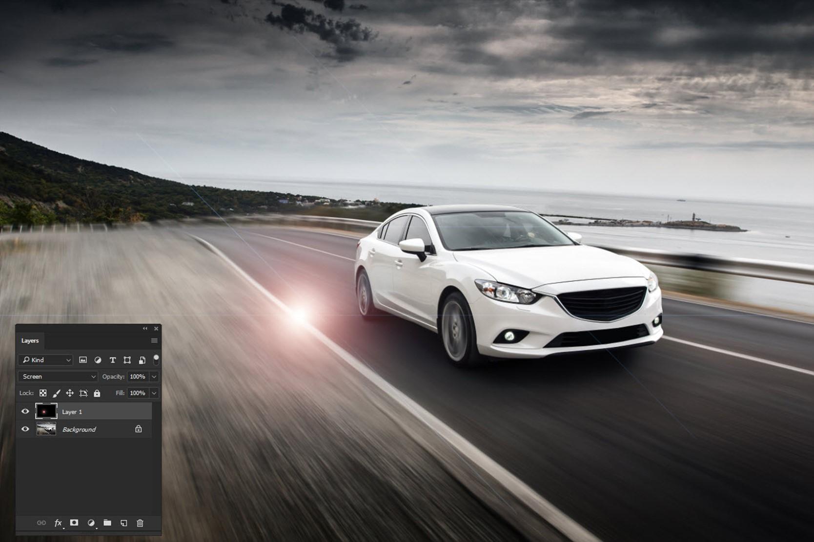 091017_1237_AddRealisti5 - Add Realistic Headlights in Car using Photoshop
