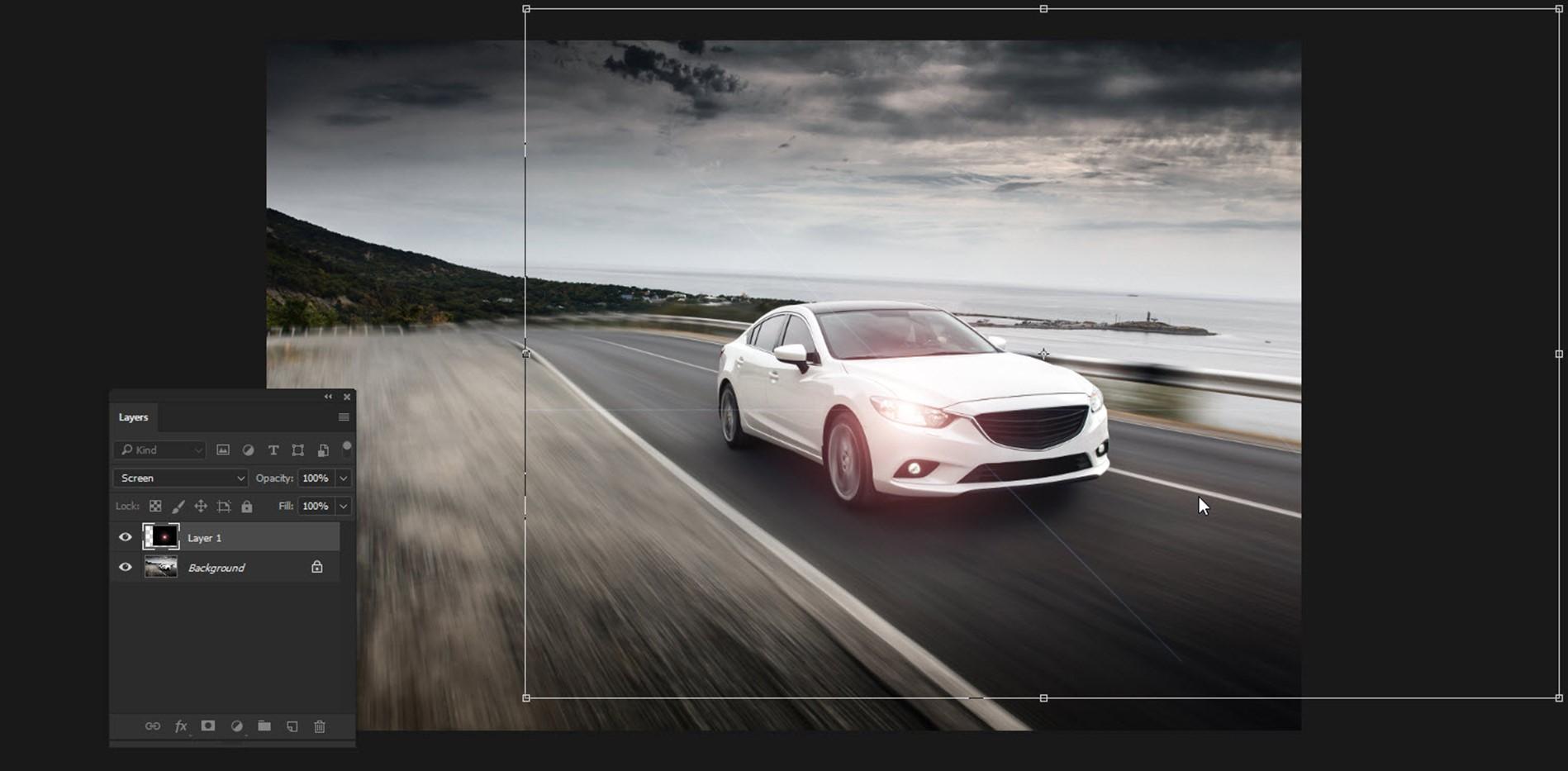 091017_1237_AddRealisti6 - Add Realistic Headlights in Car using Photoshop
