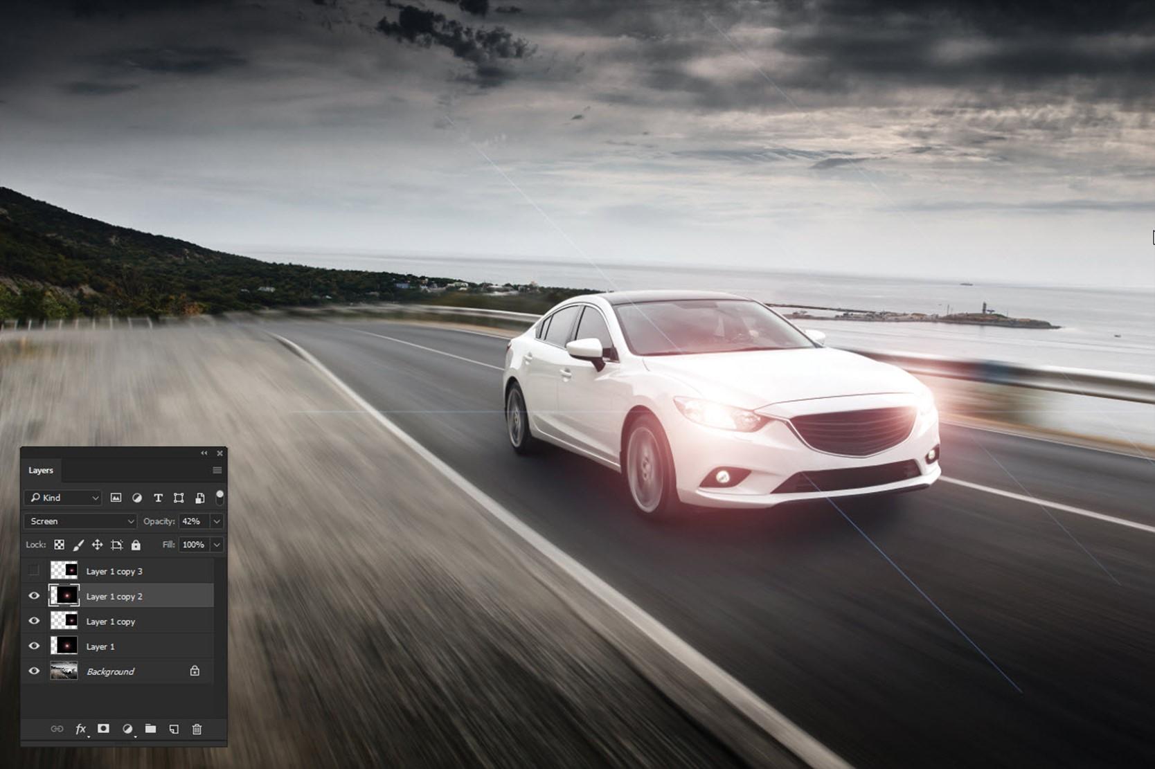 091017_1237_AddRealisti9 - Add Realistic Headlights in Car using Photoshop