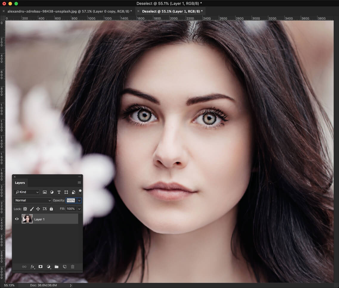 2-1 - Change Eye Color in Photoshop in 1 Minute