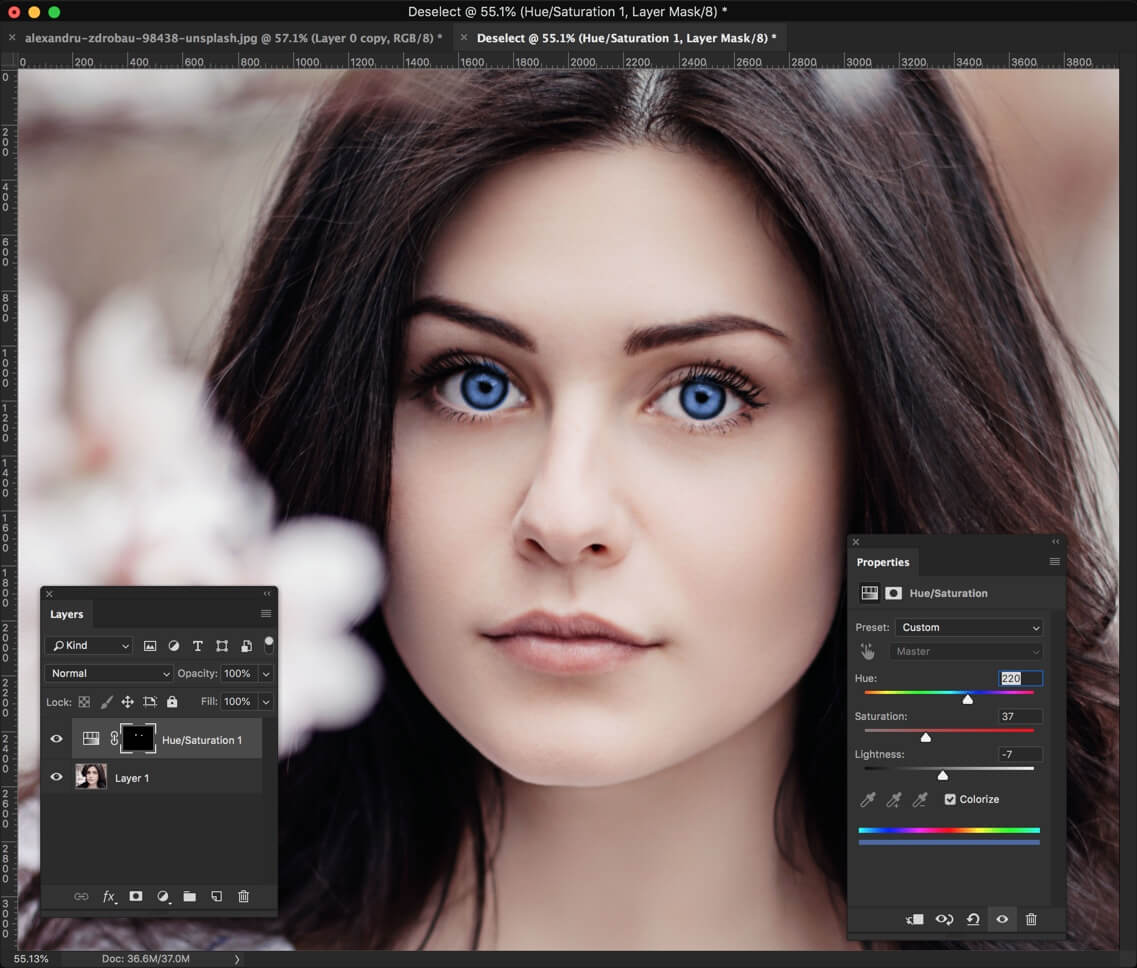 4 - Change Eye Color in Photoshop in 1 Minute