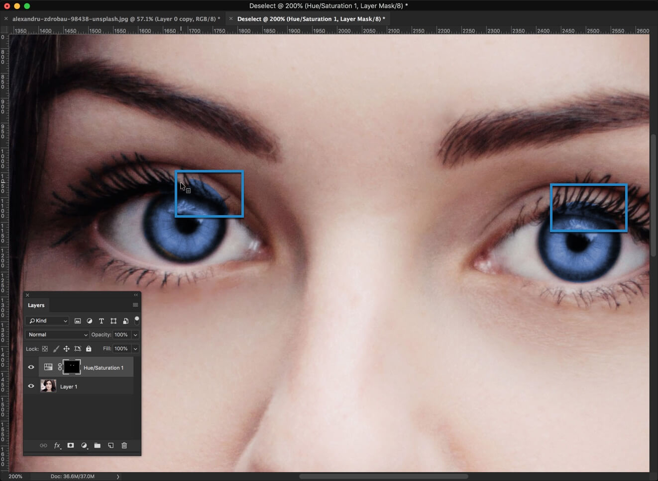 5 - Change Eye Color in Photoshop in 1 Minute