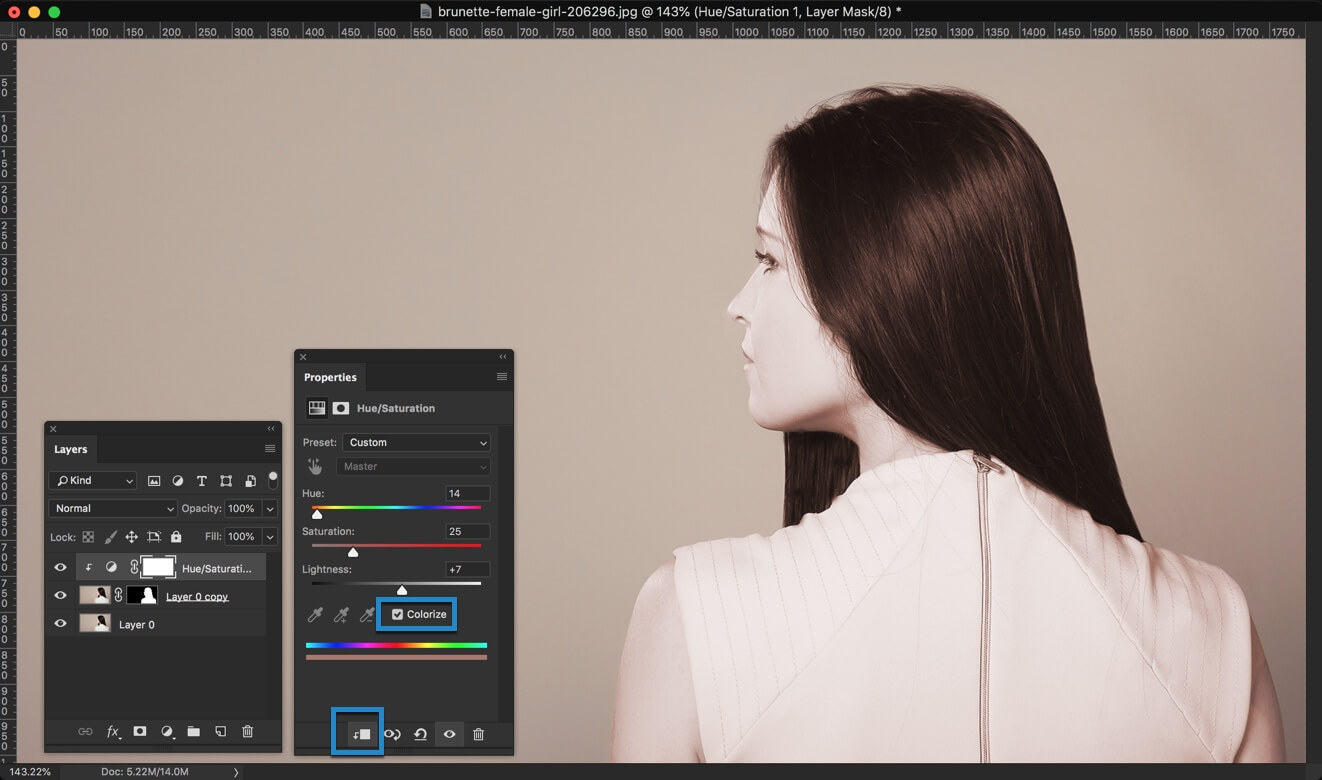 4-2 - 3 Steps to Change the Hair Color in Photoshop and Look Better