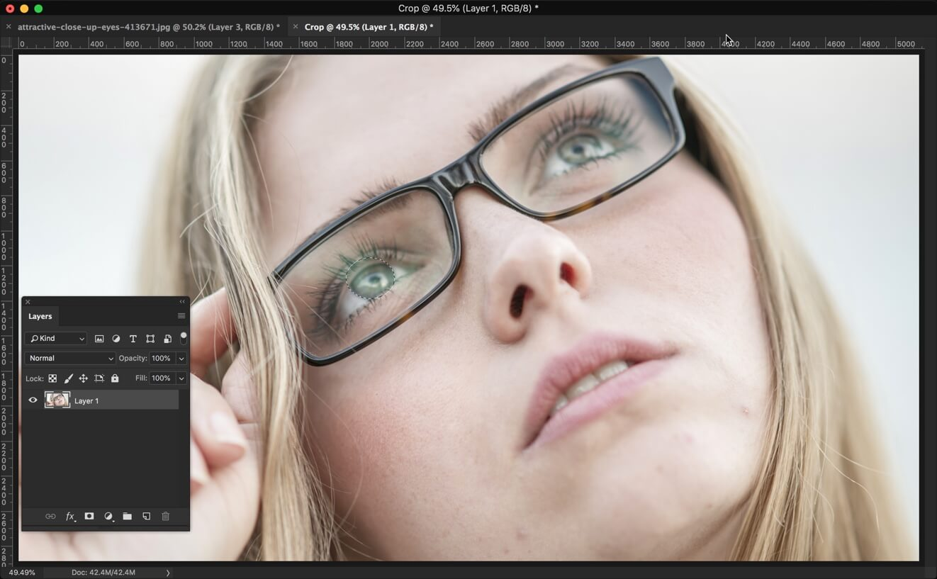 1-1 - 3 Steps to Darken Iris Rim in Photoshop