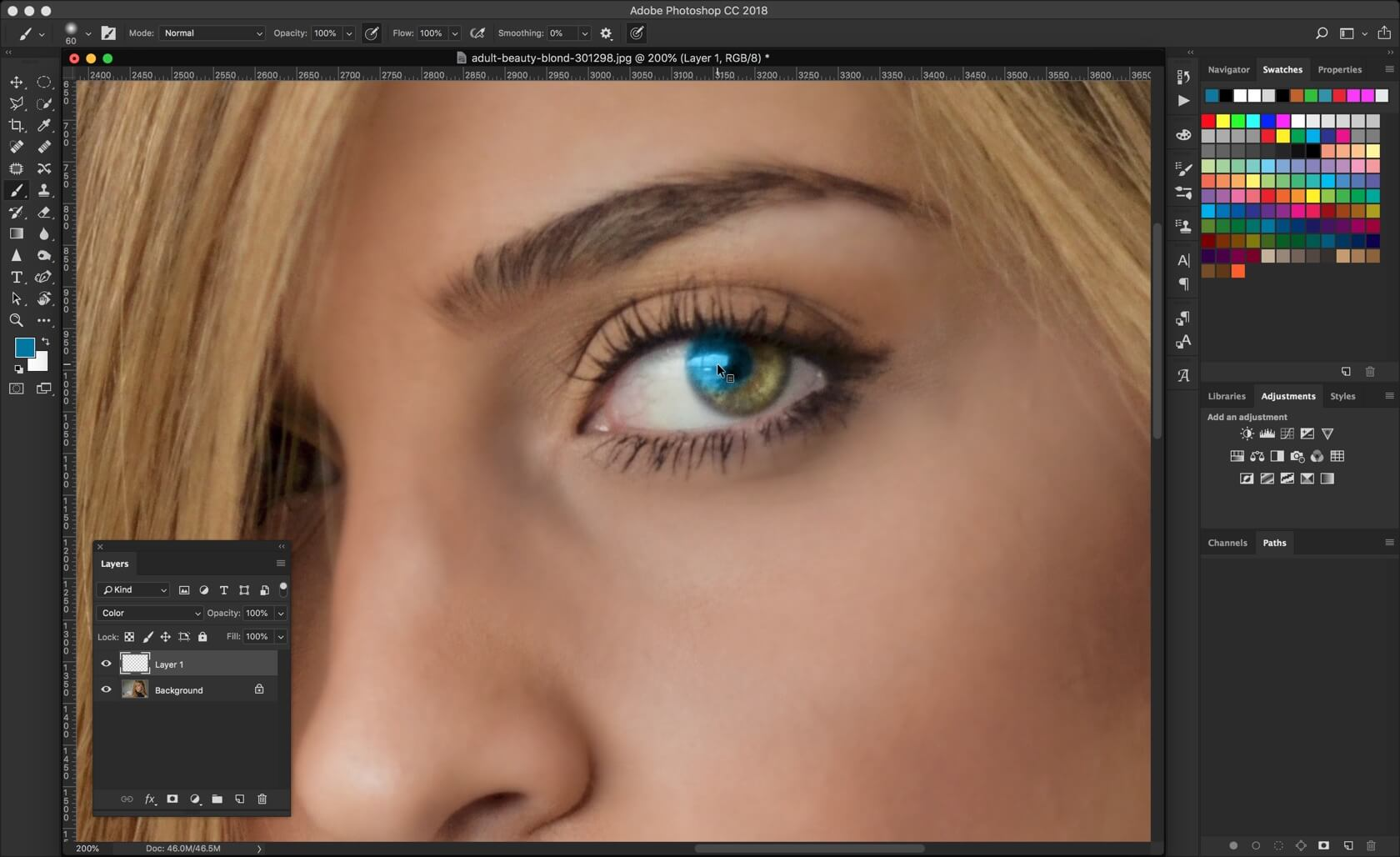 3-1 - 2 Steps to Change Eye Color in Photoshop