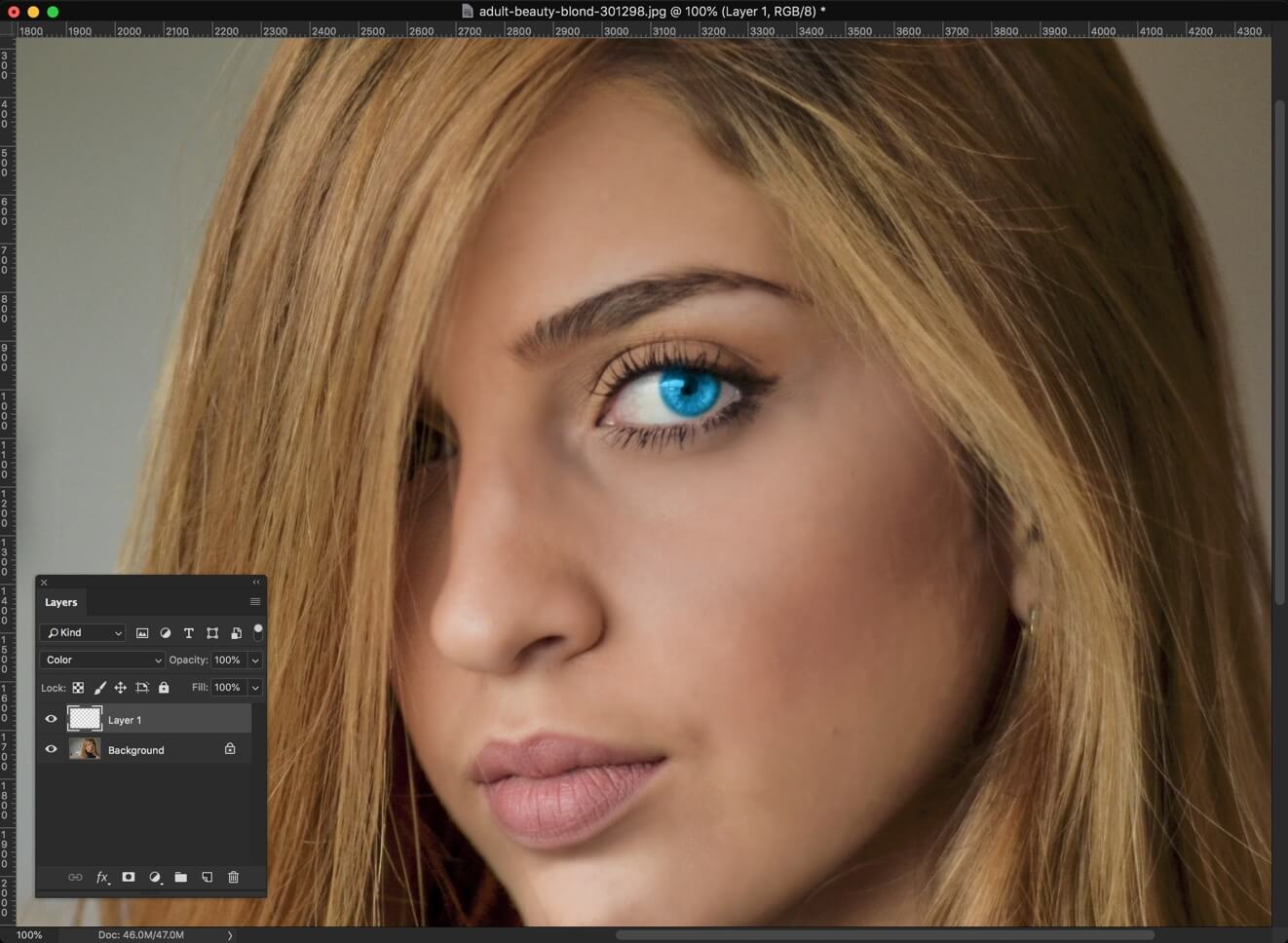 4-2 - 2 Steps to Change Eye Color in Photoshop