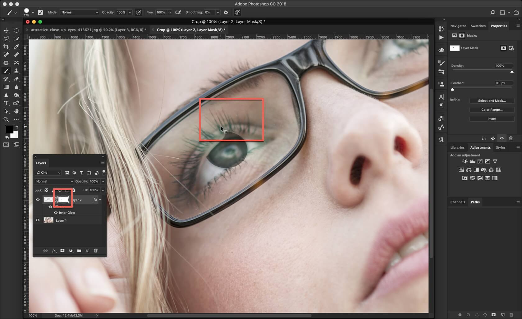 4 - 3 Steps to Darken Iris Rim in Photoshop