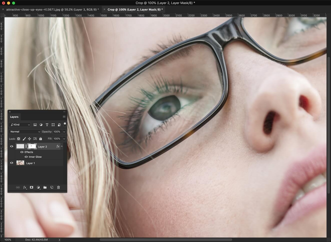 5 - 3 Steps to Darken Iris Rim in Photoshop