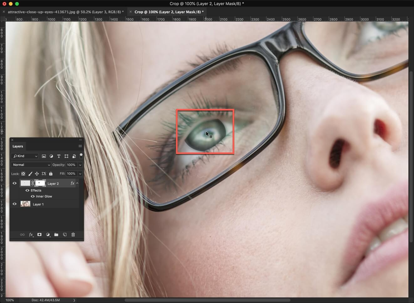 6 - 3 Steps to Darken Iris Rim in Photoshop