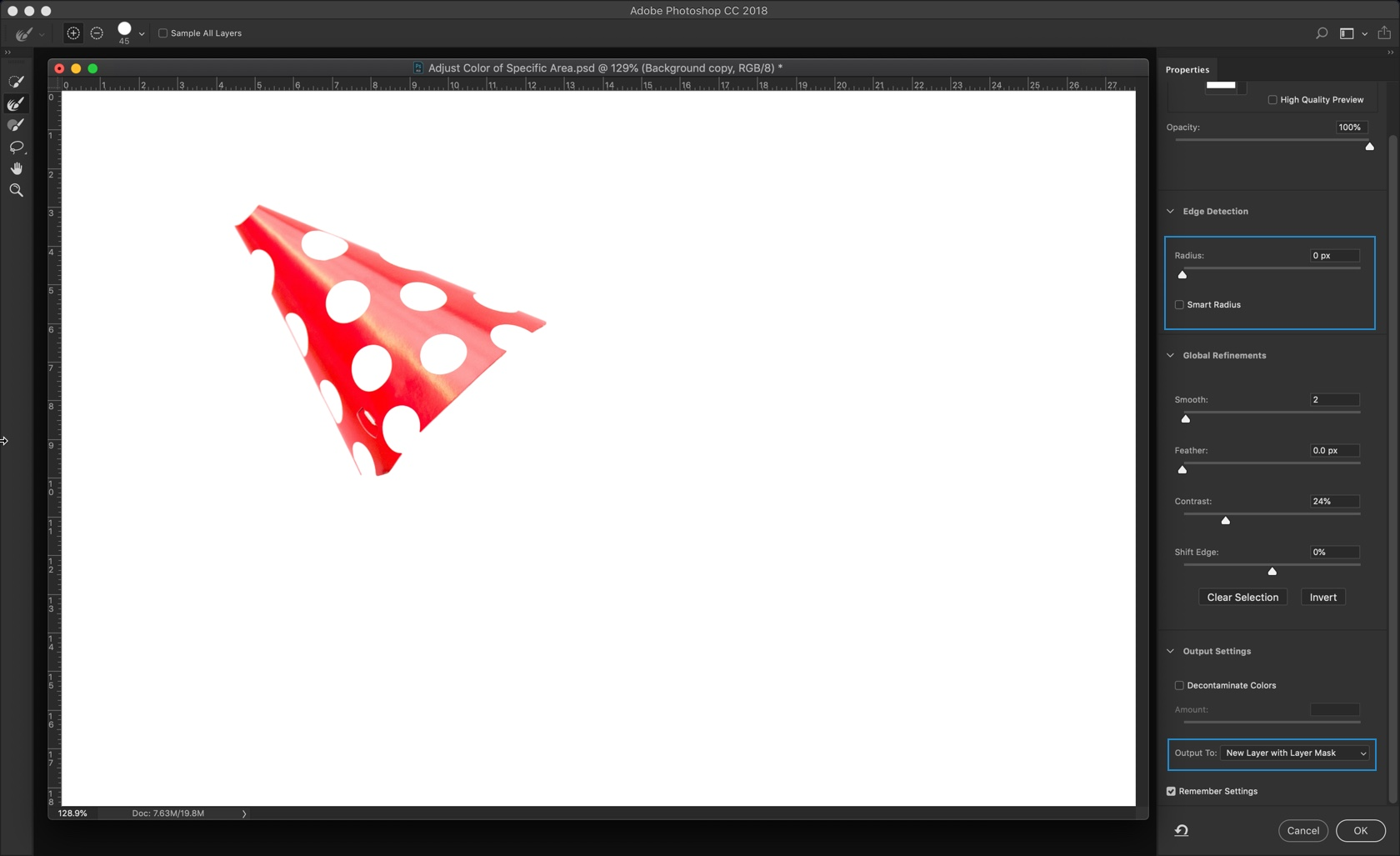 3 - Change the Color of Specific Areas in Photoshop