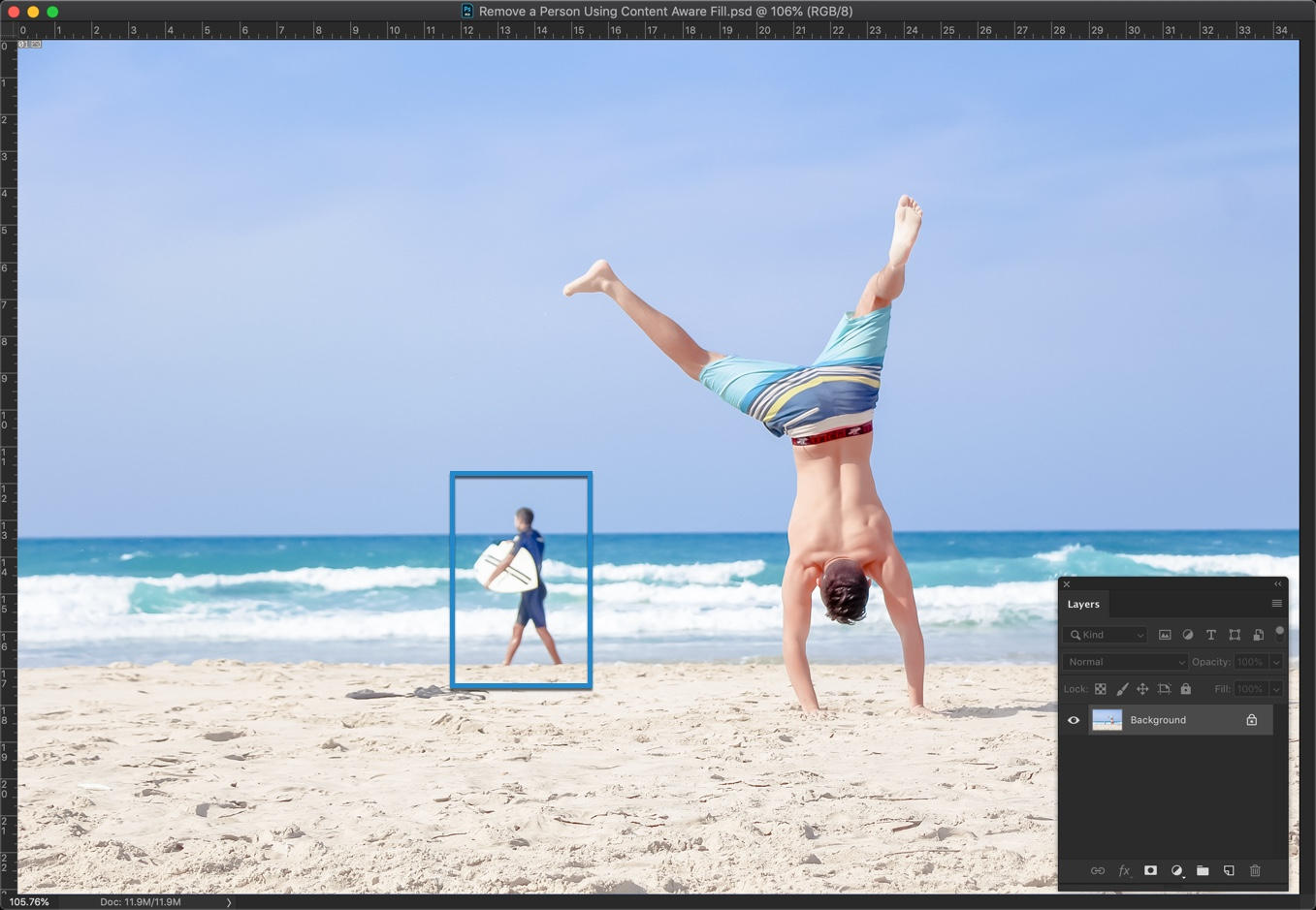 1-2 - [Pro Hack] Use Content Aware Fill to Remove a Person in Photoshop