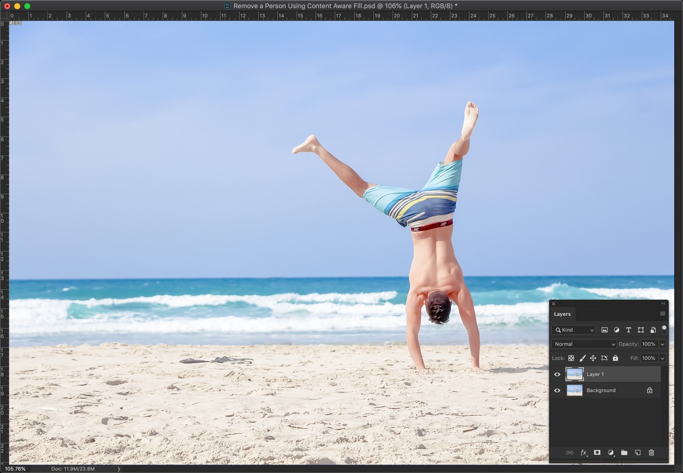 6-1 - [Pro Hack] Use Content Aware Fill to Remove a Person in Photoshop