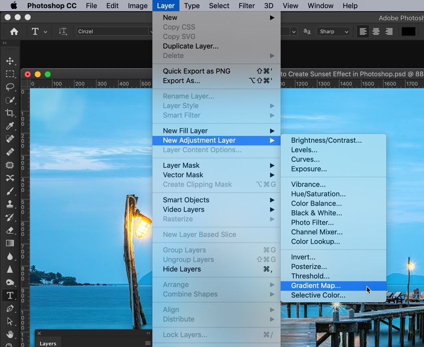 1-2 - How to Create a Sunset Effect in Photoshop?
