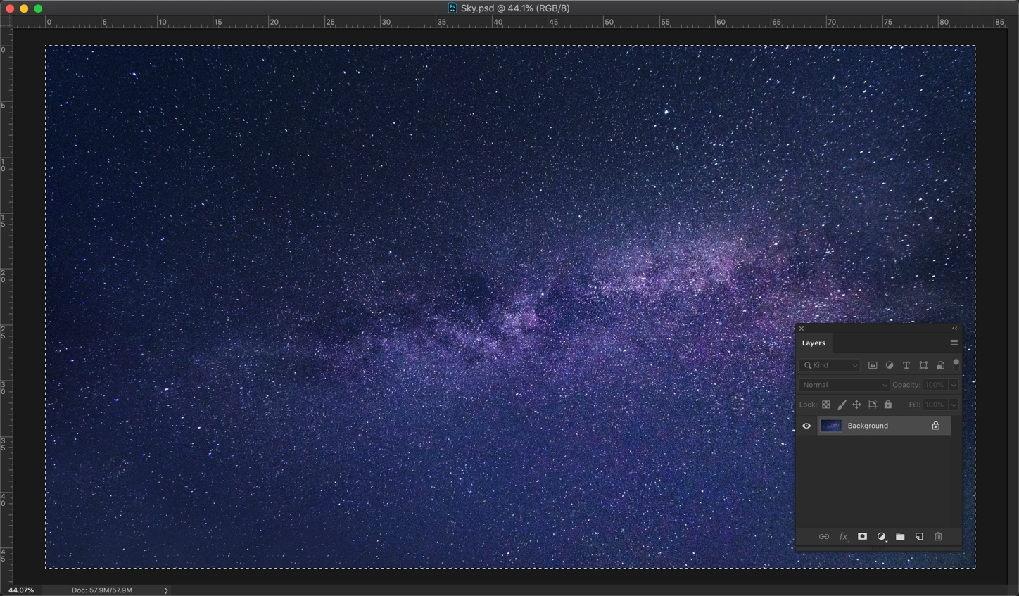 2-1 - How to add stars to the sky in Photoshop