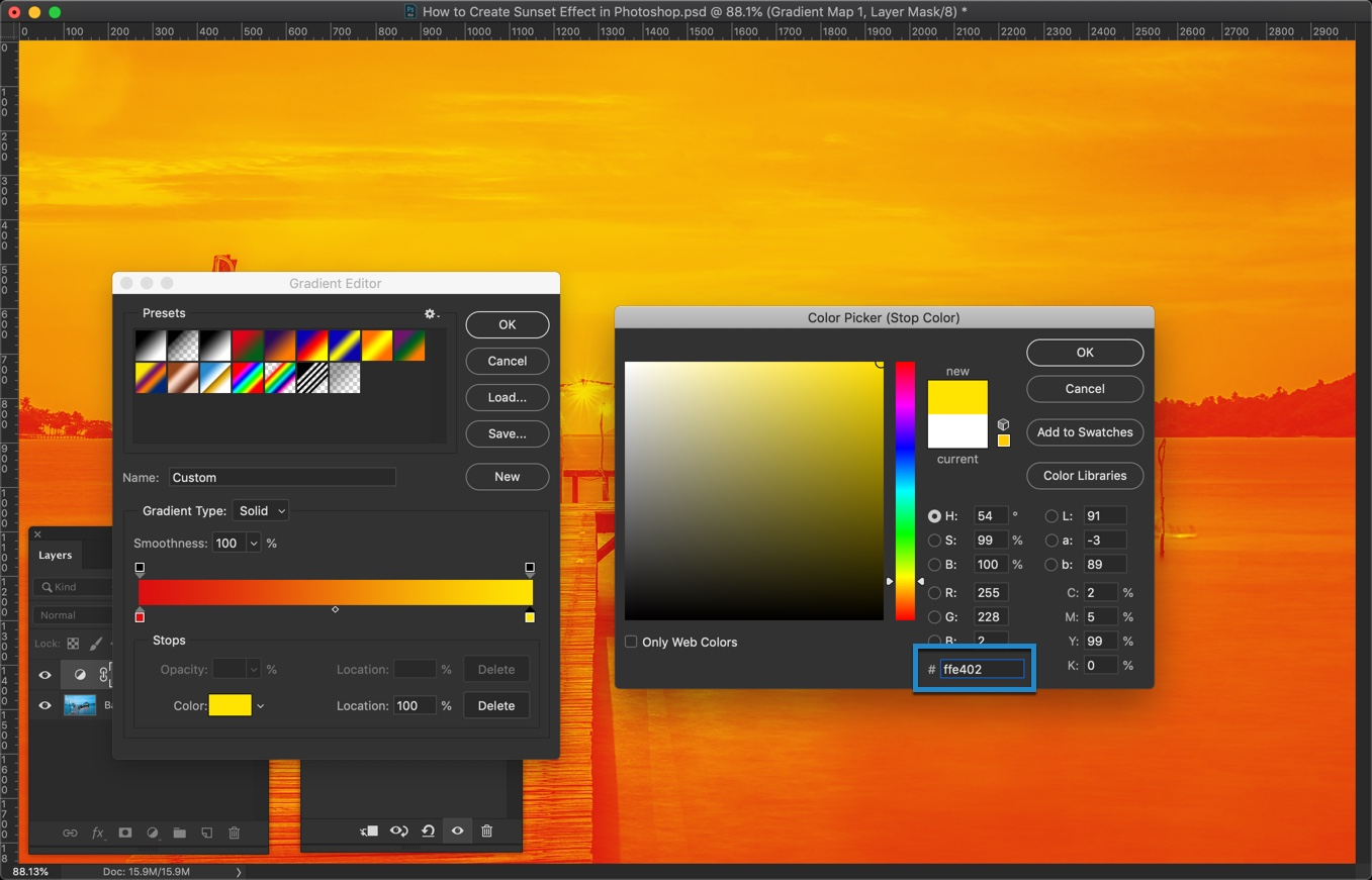 6-2 - How to Create a Sunset Effect in Photoshop?