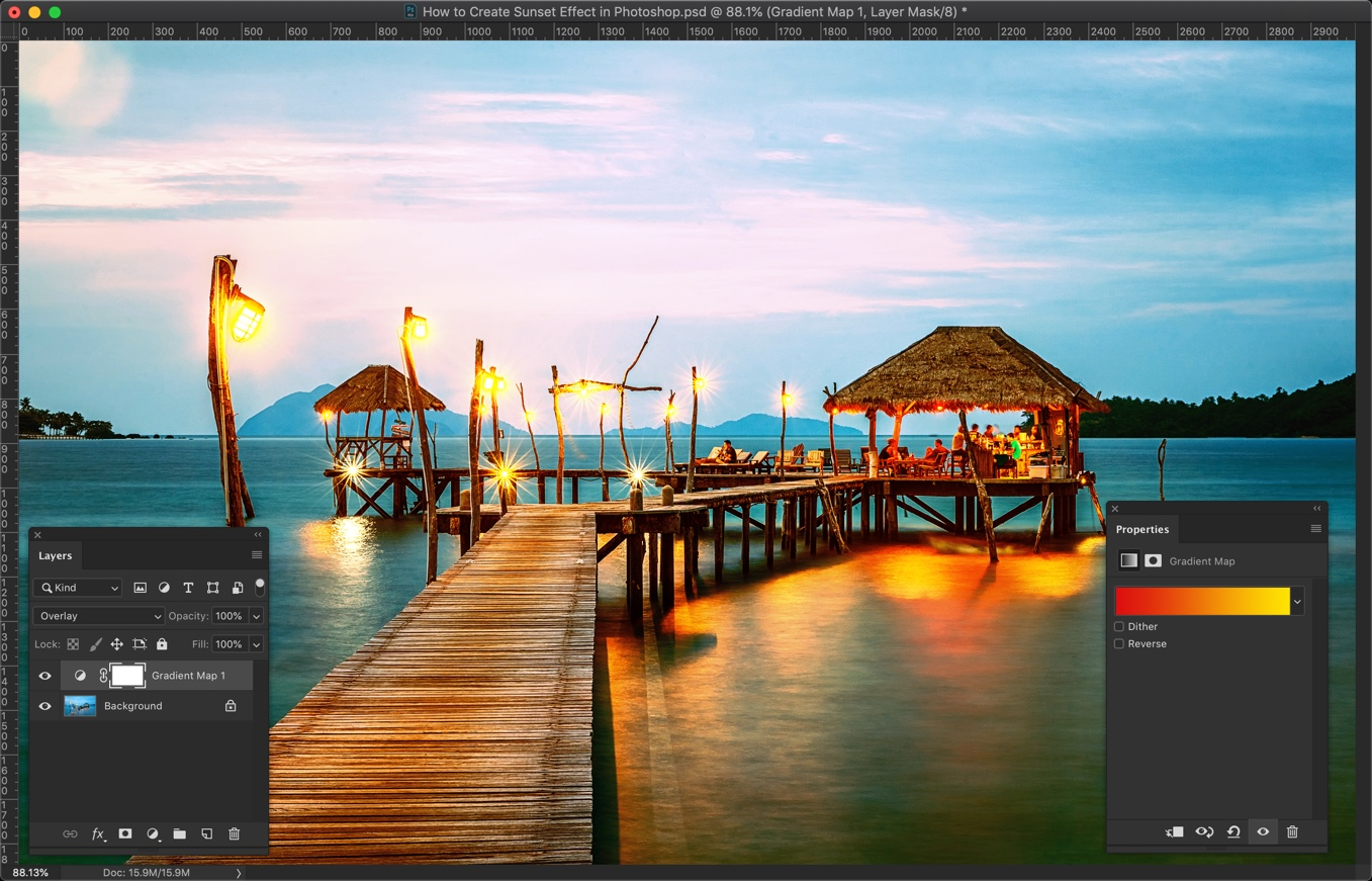 8-2 - How to Create a Sunset Effect in Photoshop?
