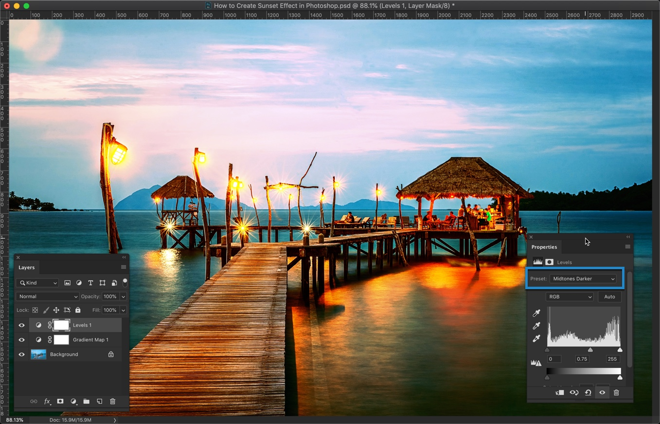 9-2 - How to Create a Sunset Effect in Photoshop?
