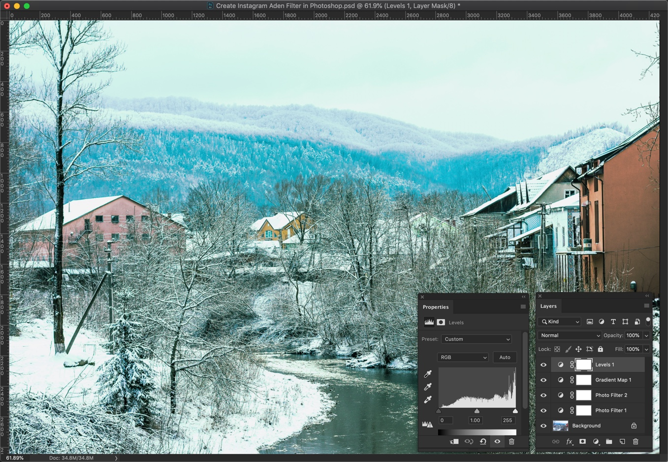 11 - [Action Included] Create Instagram Aden Filter in Photoshop