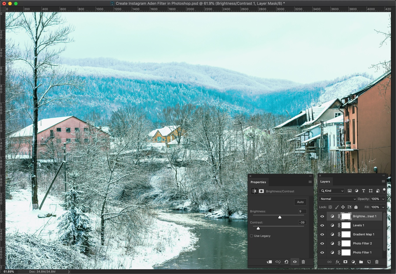 13 - [Action Included] Create Instagram Aden Filter in Photoshop