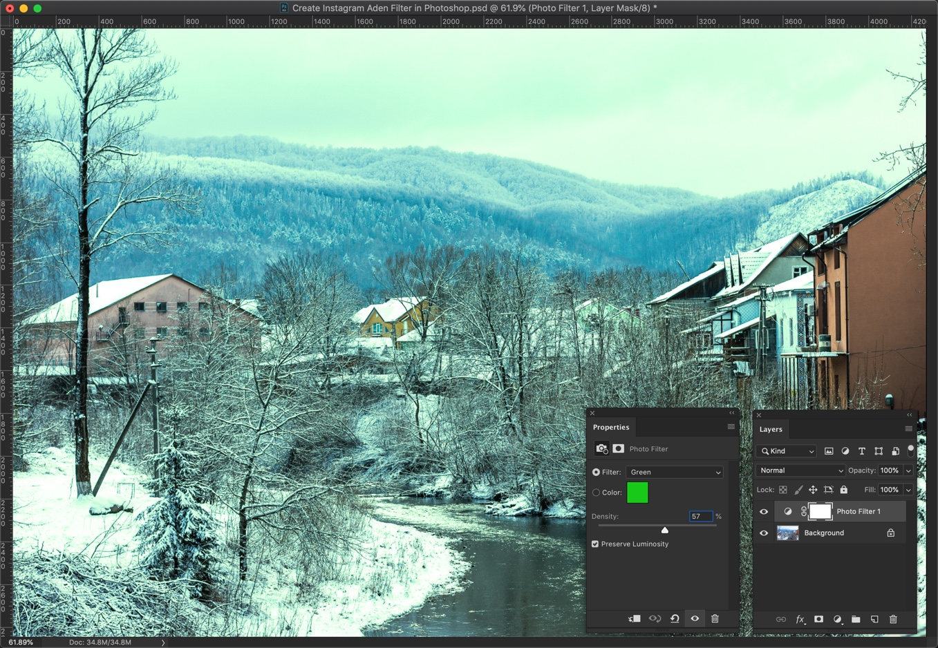 2 - [Action Included] Create Instagram Aden Filter in Photoshop