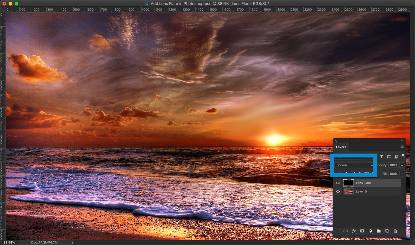 4-2 - How to Add Lens Flare in Photoshop