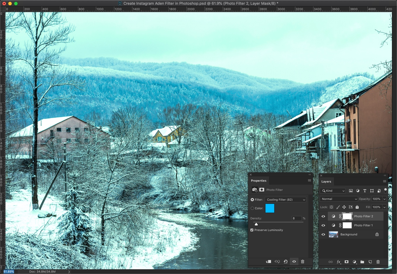 4 - [Action Included] Create Instagram Aden Filter in Photoshop