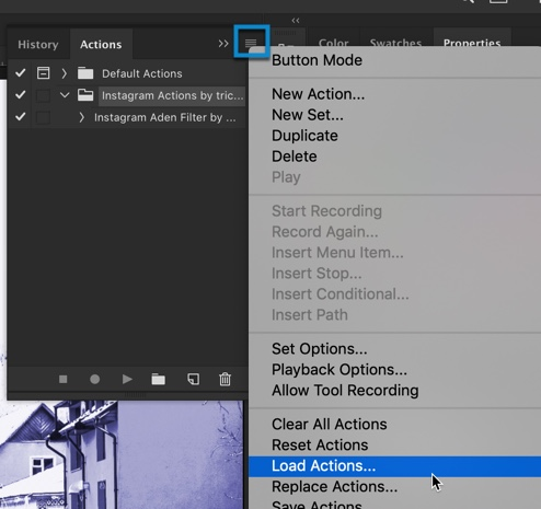 How to Load or Import Actions in Photoshop