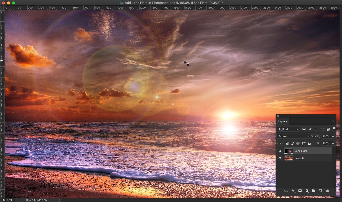 7-1 - How to Add Lens Flare in Photoshop