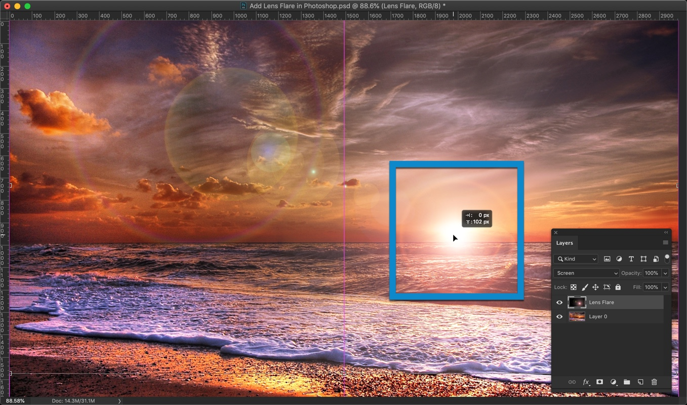 8-1 - How to Add Lens Flare in Photoshop