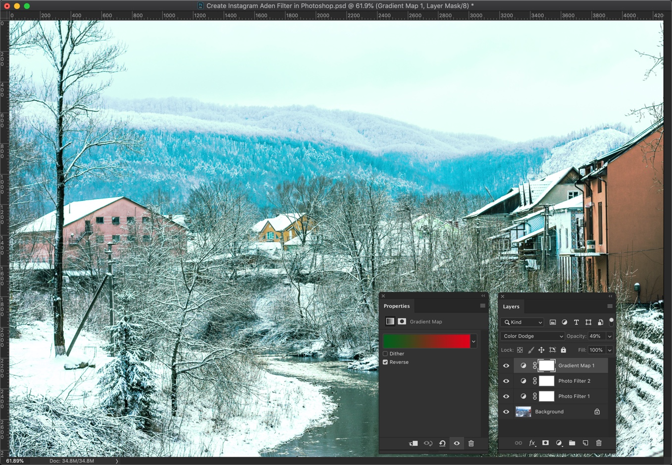 9 - [Action Included] Create Instagram Aden Filter in Photoshop