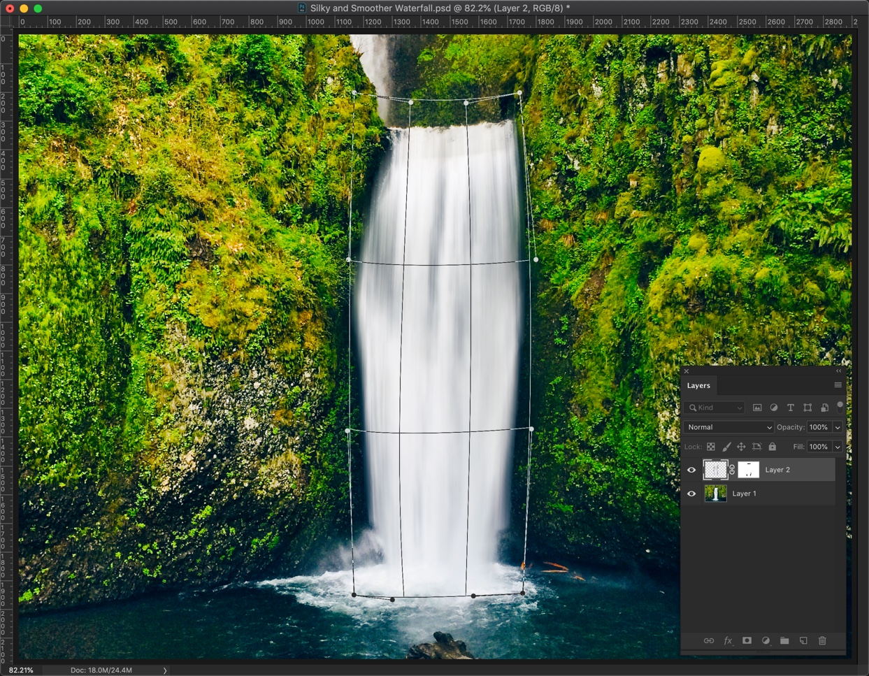 14-1 - Create a Silky and Smooth Waterfall in Photoshop