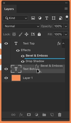 3-2 - Quick Tip: Copy Layer Styles in Photoshop