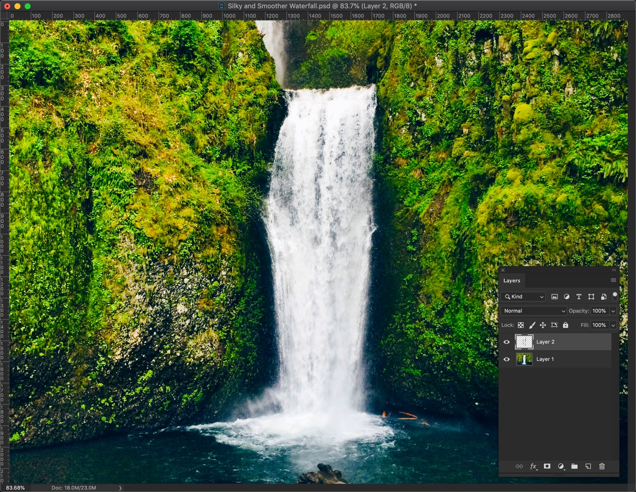 3-3 - Create a Silky and Smooth Waterfall in Photoshop