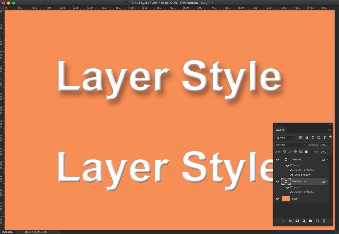 4-2 - Quick Tip: Copy Layer Styles in Photoshop