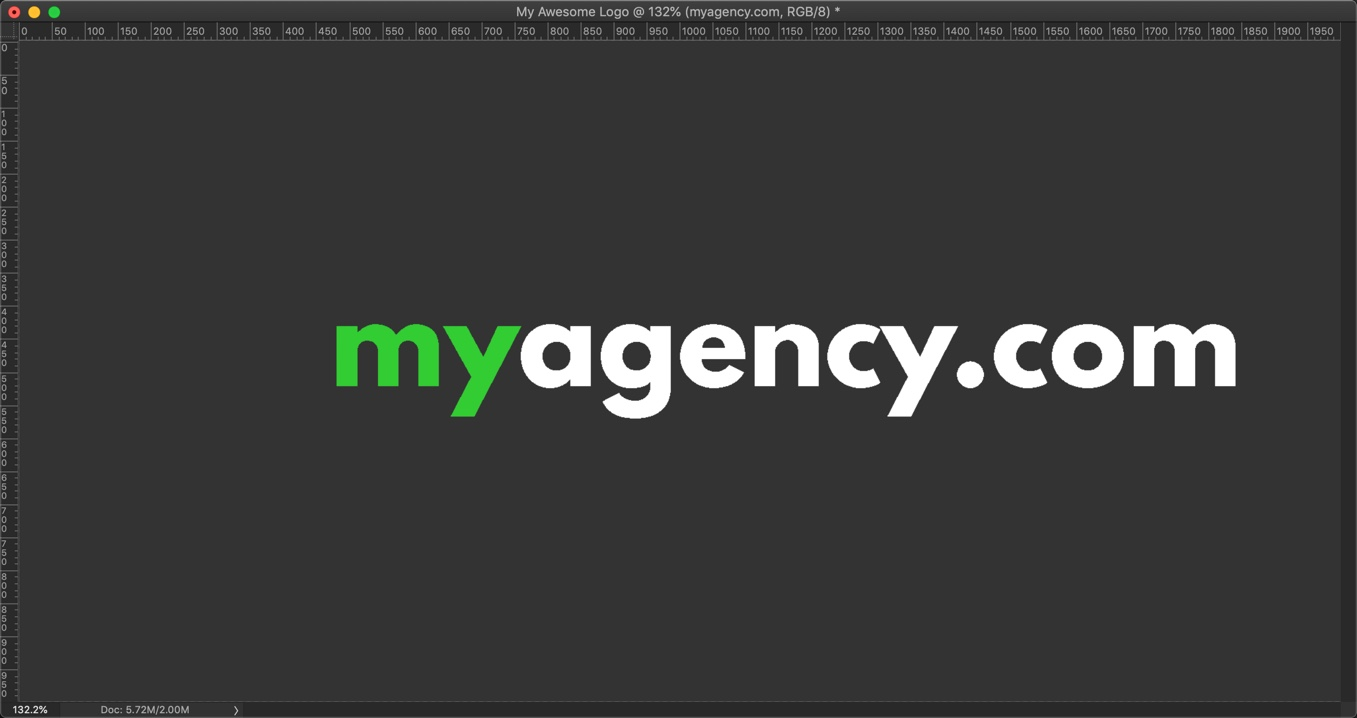12-1 - How to make a logo in Photoshop in 4 minutes